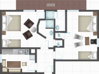 Apartment 1 for 4-6 persons floor plan